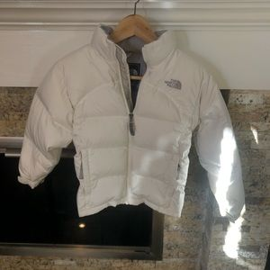 Girls north face puffer jacket